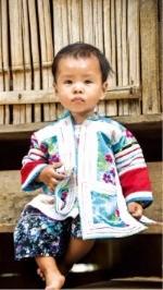 자보 마을에서 만난 라후족의 한 어린이.