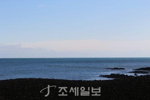 온평리 앞 바다