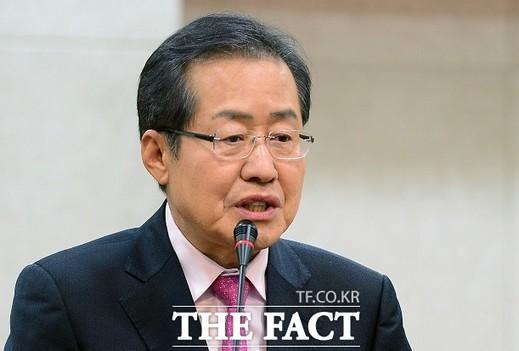 홍준표, 국가원로 예방…유일한 보수우파 후보 강조