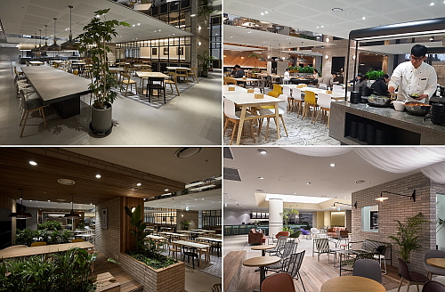 PARADISE CITY 구내 식당 모습들...CJ프레시웨이 제공