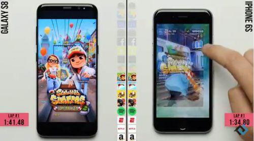 갤럭시S8 vs 아이폰6S 속도비교