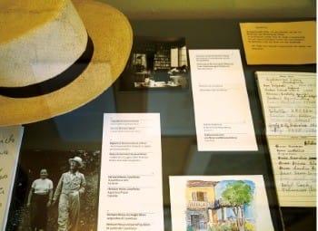 박물관에는 헤세가 쓰던 모자, 아내와 찍은 사진, 직접 그린 수채화 등이 전시돼 있다. 헤세는 이 타자기로 '유리알 유희' '싯다르타' 등의 소설을 썼다.