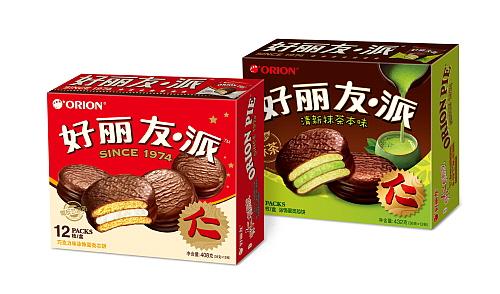 중국과 베트남 시장을 석권하고 있는 초코파이의 중국 제품 이미지...오리온 제공