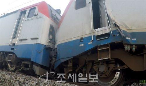 경의중앙선 열차 추돌 [사진: 양평소방서 제공]