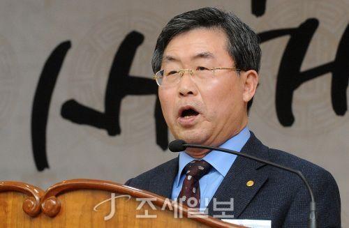 이창규 한국세무사회 회장이 9일 오전 서울 한국세무사회 회관에서 열린