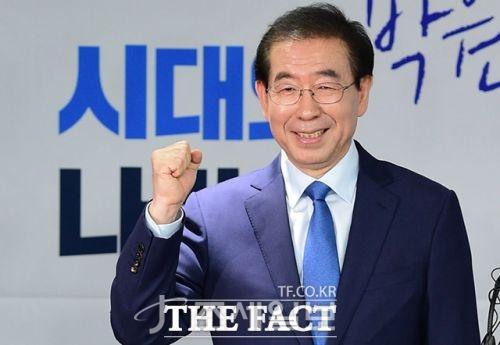 박원순, 김기식 <사진: 더 팩트>