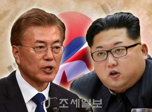 오는 27일 남북 정상회담에서 만날 예정인 문재인 대통령과 김정은 북한 국무위원장. (그래픽=이민경)
