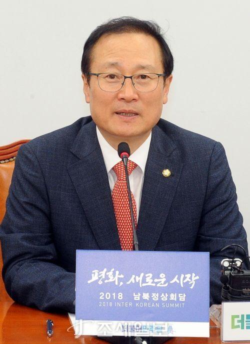 홍영표 더불어민주당 원내대표 [사진: 김용진 기자]