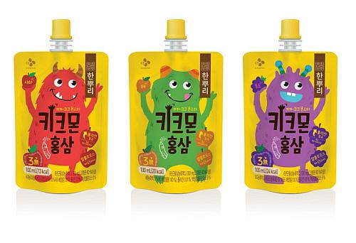 CJ제일제당 어린이 음료 한뿌리 키크몬 홍삼 3종 이미지