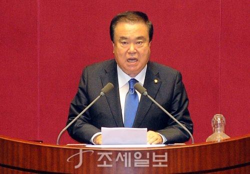 13일 20대 국회 후반기 국회의장에 선출된 문희상 더불어민주당 의원. (사진=김용진 기자)