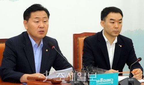 김관영 바른미래당 원내대표가 9일 오전 서울 국회에서 열린 원내정책회의에서 발언을 하고 있다 [사진: 김용진 기자]