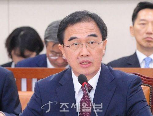 조명균 통일부 장관. (자료사진=김용진 기자)