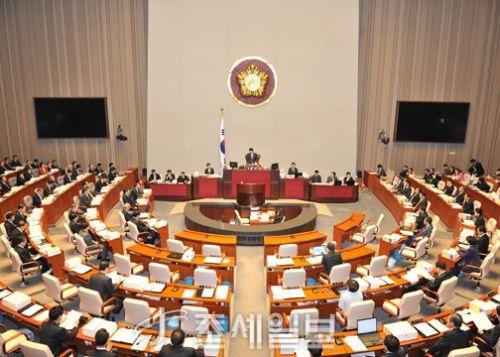 9일 열린 국회 예산결산위원회 회의(자료사진)가 자유한국당 의원들의 집단 퇴장으로 한때 정회됐다. (사진=조세일보DB)