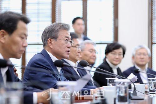 청와대 수석보좌관회의를 주재하고 있는 문재인 대통령 (사진=청와대)