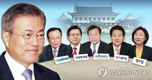 문재인 대통령 - 여야 5당 대표 회동 (PG)