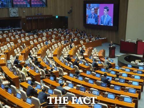 국회 본 회의장 모습 (사진=더팩트)