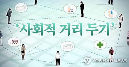 사회적 거리두기 (일러스트 = 연합뉴스)