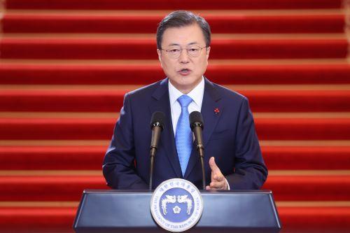 [포토] 2021년 신년사하는 문재인 대통령